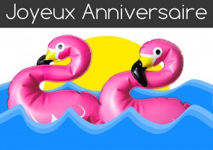 Carte Flamants roses à imprimer